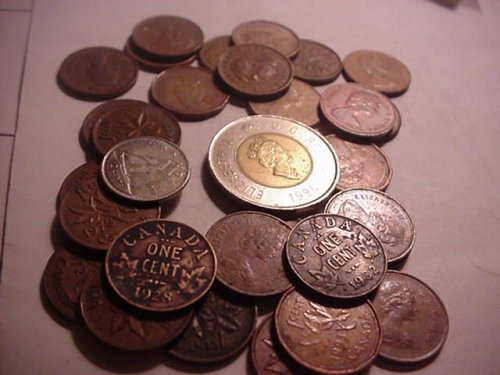 mix lot #2 28-small cents,1-2 dollar bear coin,2-older pennys 1928,1932