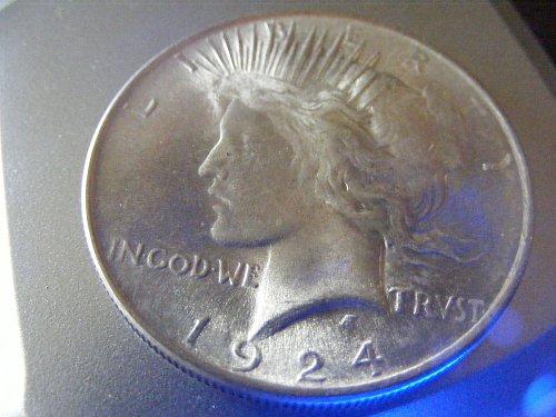 1924 P Silver Peace Dollar