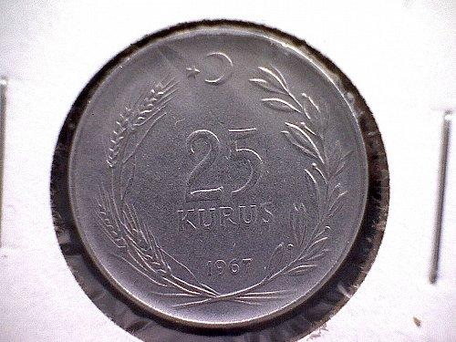 1967 TURKEY TWENTY-FIVE KURUS