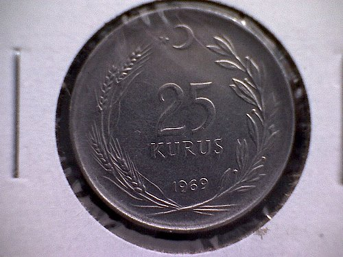 1969 TURKEY TWENTY-FIVE KURUS