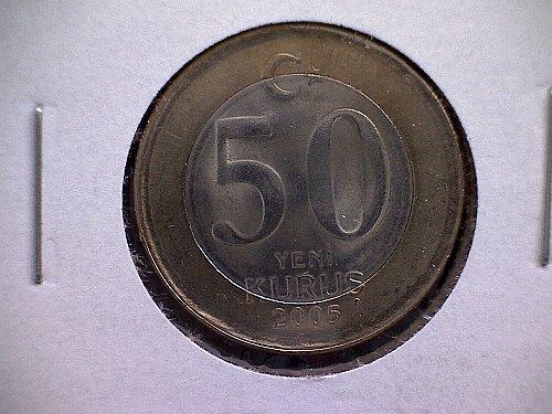 2005 TURKEY FIFTY KURUS