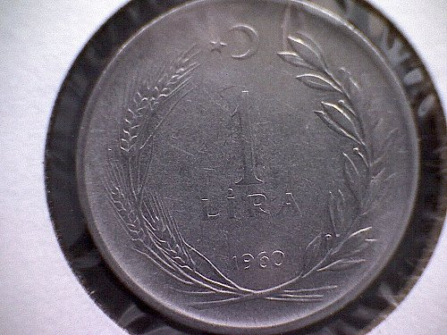 1960 TURKEY ONE LIRA