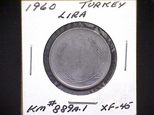 1960 TURKEY ONE LIRA