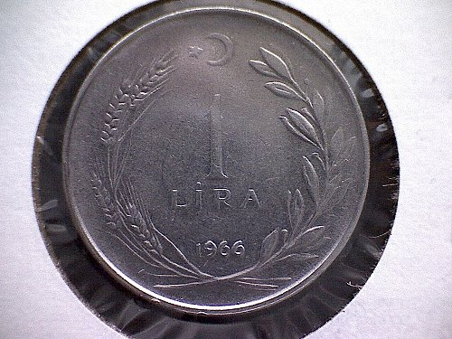 1966 TURKEY ONE LIRA