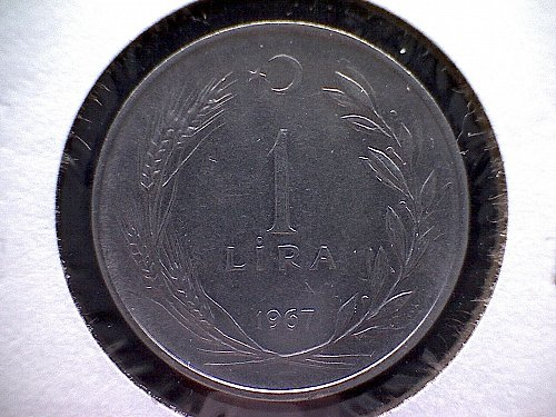 1967 TURKEY ONE LIRA