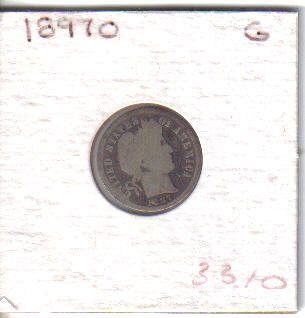 1897 O  BARBER DIME