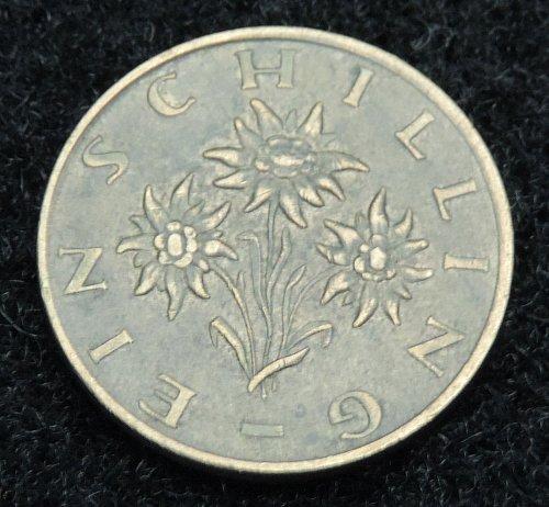 1971 Austria 1 Schilling KM#2886 1959-2001 Osterreich Flower