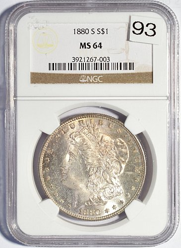 1880 S Morgan Dollar, NGC MS 64 (Item 93)