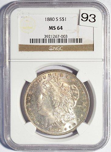 1880 S Morgan Dollar, NGC MS 64 (Item 93)