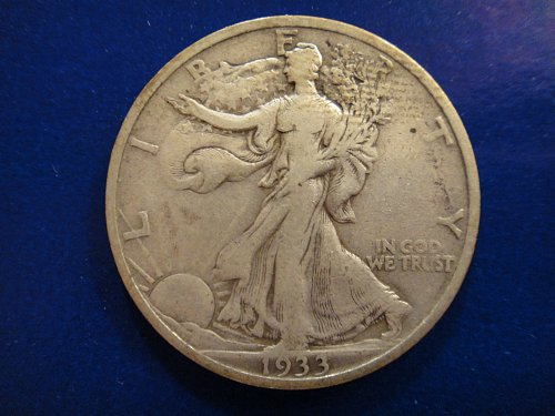 1933-S Walking Liberty Half Dollar Very Fine-25 Nice Coin Underrated Date!