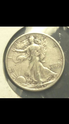1935-P walking liberty half dollar