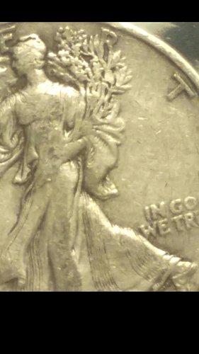 1935-P walking liberty half dollar