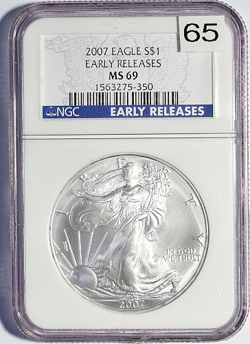 2007 Silver Eagle Dollar, Early Release,  (Item 065)
