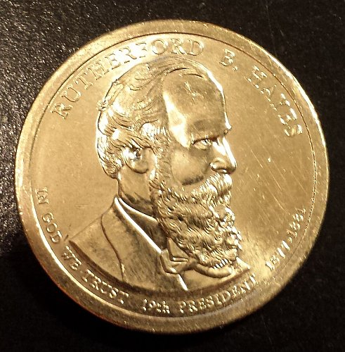 2011-P Rutherford B Hayes Presidential Dollar - (6141)