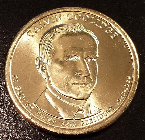 2014-D Calvin Coolidge Presidential Dollar - From US Mint Roll (6143)