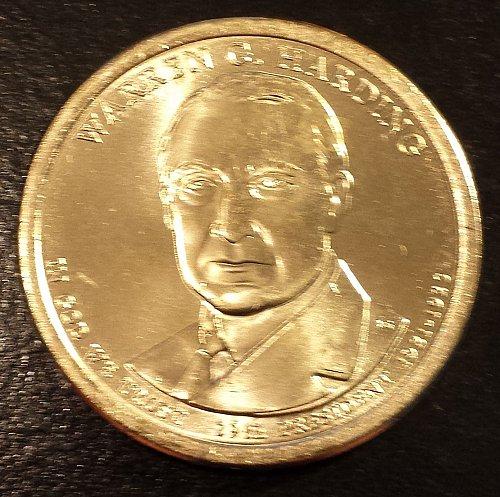 2014-D Warren G Harding Presidential Dollar (6147)