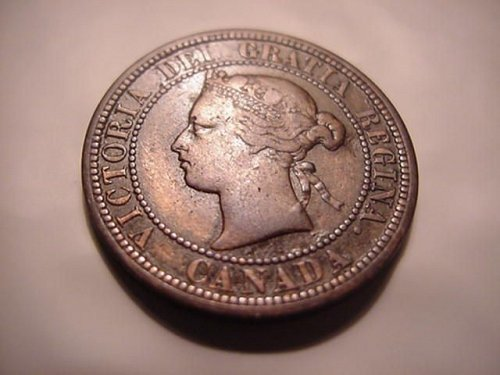 1881 H canada large cent