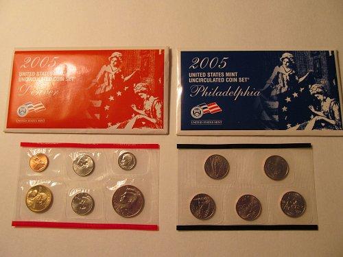 2005 US Mint Uncirculated Coin Set P&D