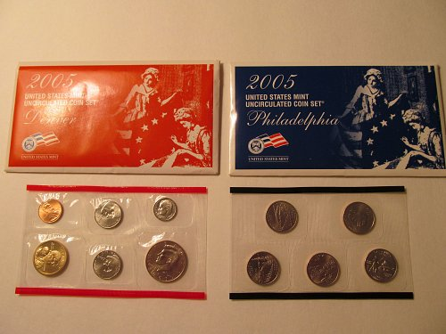 2005 US Mint Uncirculated coiin set