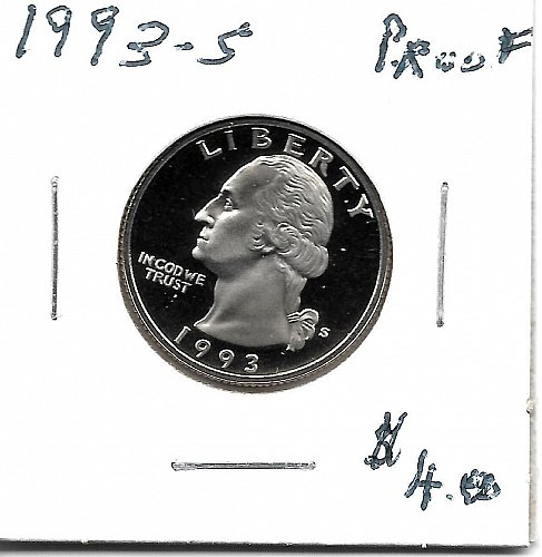 1993s  proof quarter
