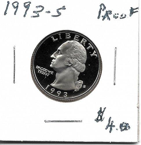 1993s  proof quarter