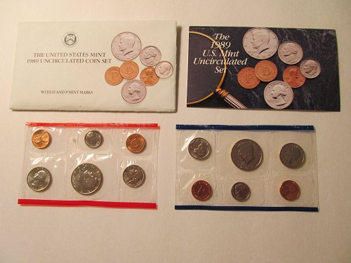 1989 US Mint Uncirculated coin set