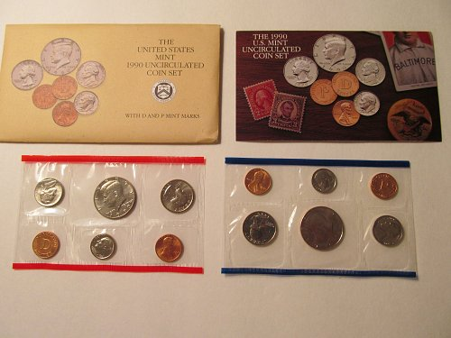 1990 US Mint Uncirculated coin set