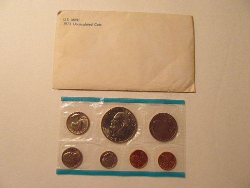 1973 US Mint Uncirculated coin set P&D mints