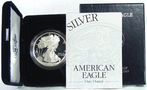 1995 P American Silver Eagle Proof set COA and case by Mint
