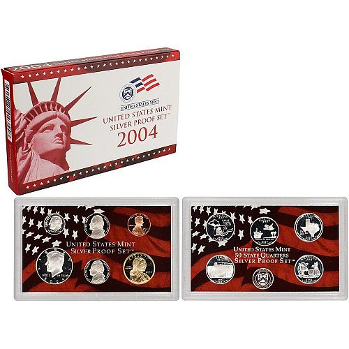 2004 US Mint Silver Proof 11 piece set new with CoA