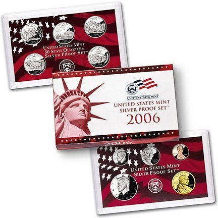 2006 US Mint Silver Proof 10 piece set new with CoA