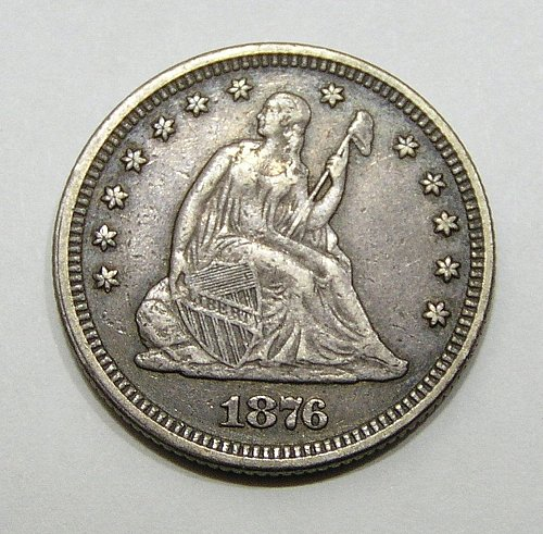 1876 Seated Liberty Quarter - VF