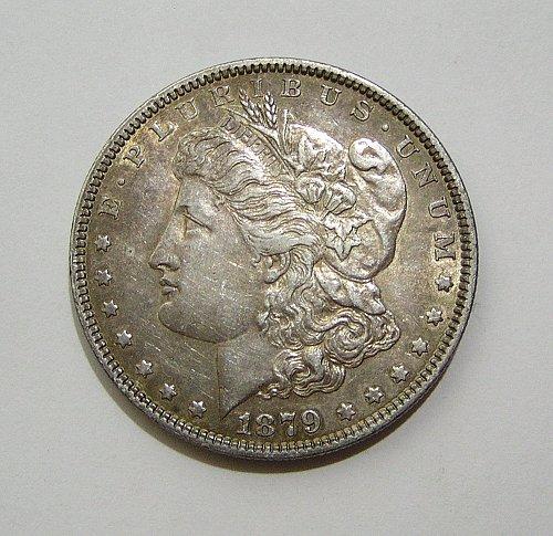 1879 Morgan Dollar - AU Condition