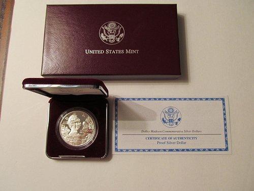 1999 Dolley Madison Commemorative Silver Dollar