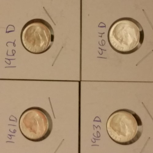 1961 to 1964 roosevelt dimes