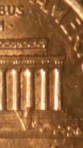 1994 penny double die reverse (extra columns )