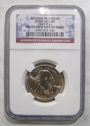 2007-P John Adams - Second President NGC MS65 First Day of Issue