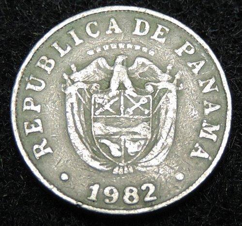 1982 Panama 5 Centisimos KM#23.2 1962-1993 National Coat of Arms