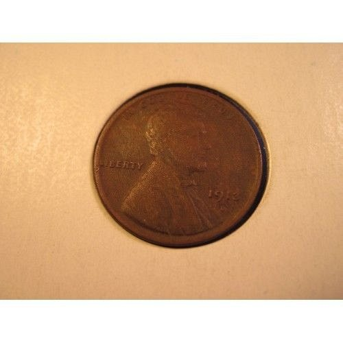 1913 D penny cleaned