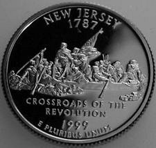 1999s new jersy and 1999s geo. proof quarters