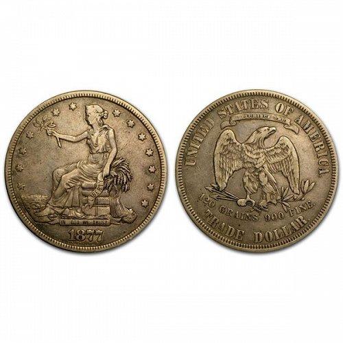 1877 Trade Silver Dollar - Fine