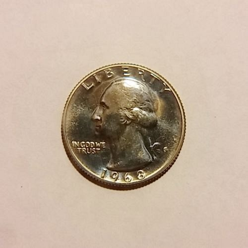 1968 S proof quarter