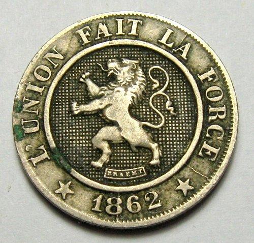 1862 beleium 10 centimies