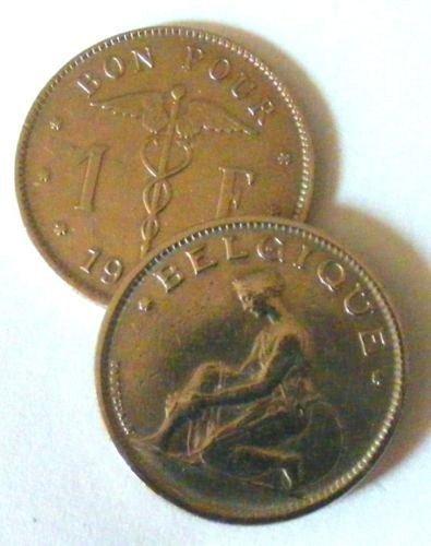 1934 belgium 1 franc