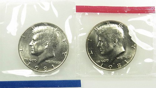 2-1981 P & D  unc  from mint set
