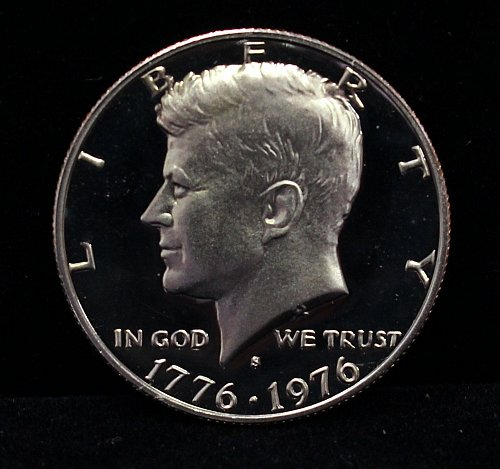 1976 S proof half dollar