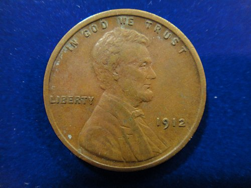 "1912 Lincoln Cent Extra Fine-40 Decent Surfaces On A Tougher ""P"" Mint!"