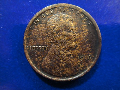 1916 Lincoln Cent AU-55 Neat Charcoal Copper Tone! EYE APPEAL
