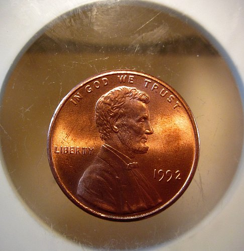 1992 Lincoln Cent Small Cents FULLY RED