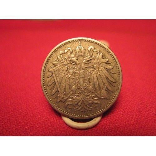 2-austria coins 1894 20 heller and 1900 1 heller